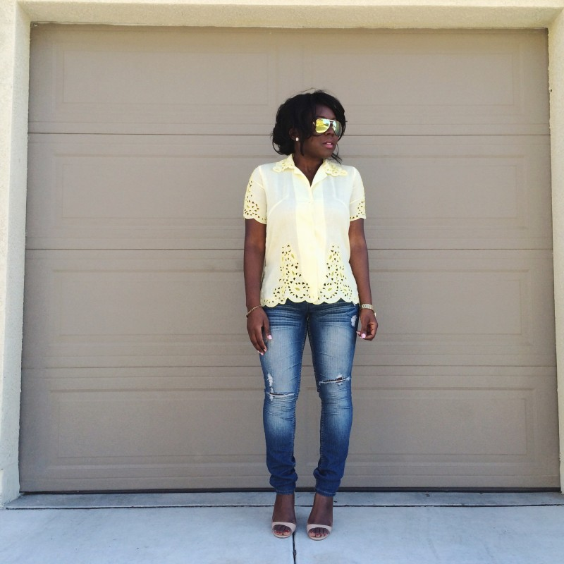 Statement Piece: Yellow top