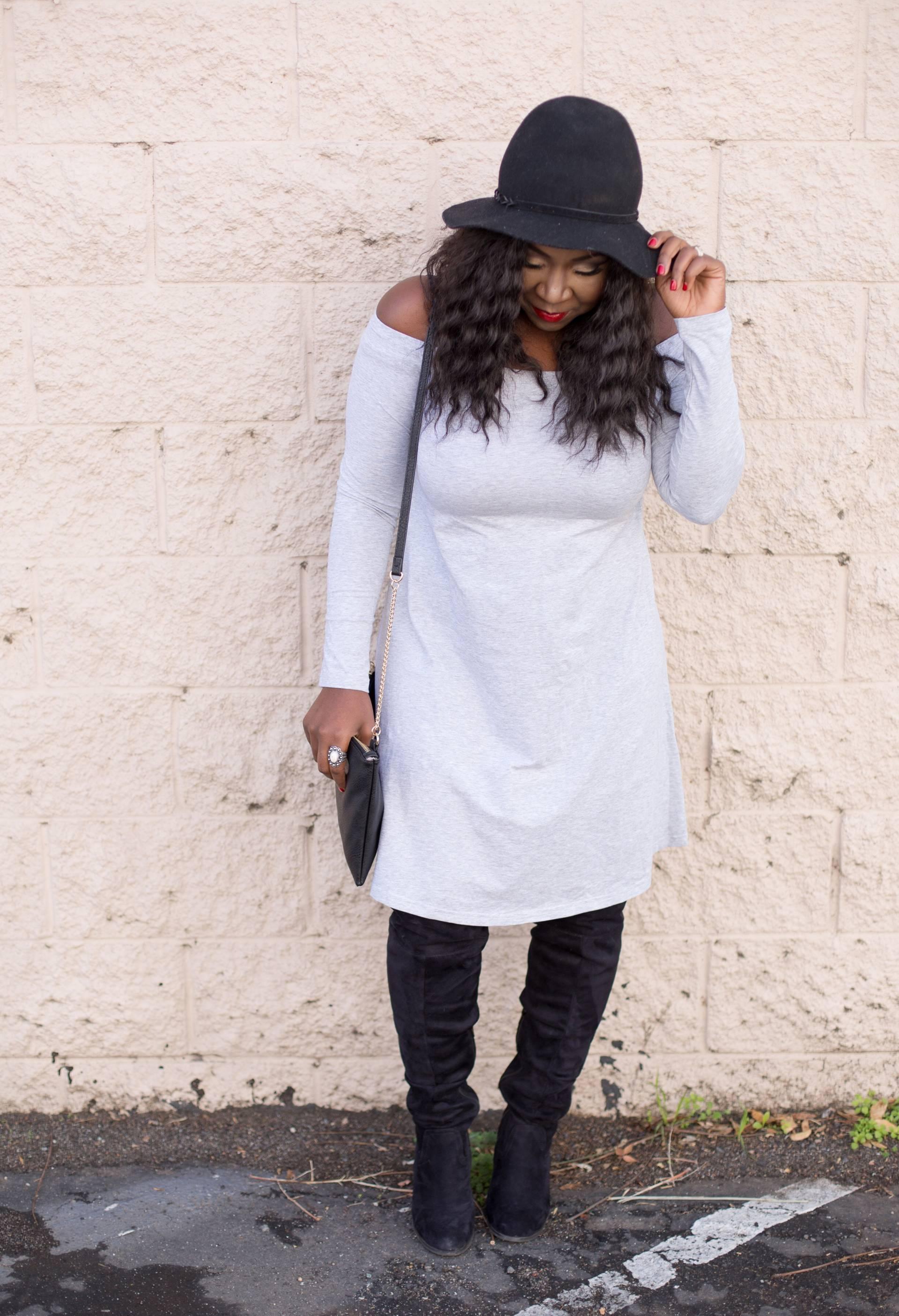 Grey dress- half wigs