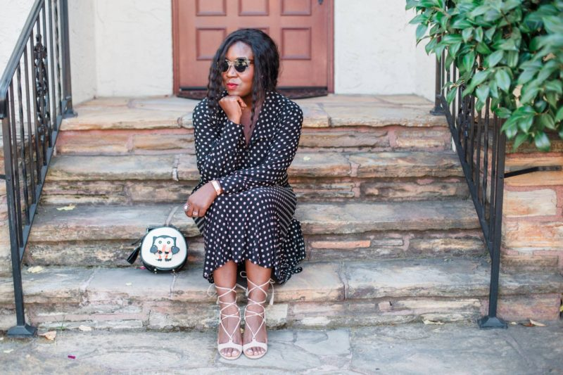 polka-dot-dress- fashion blog