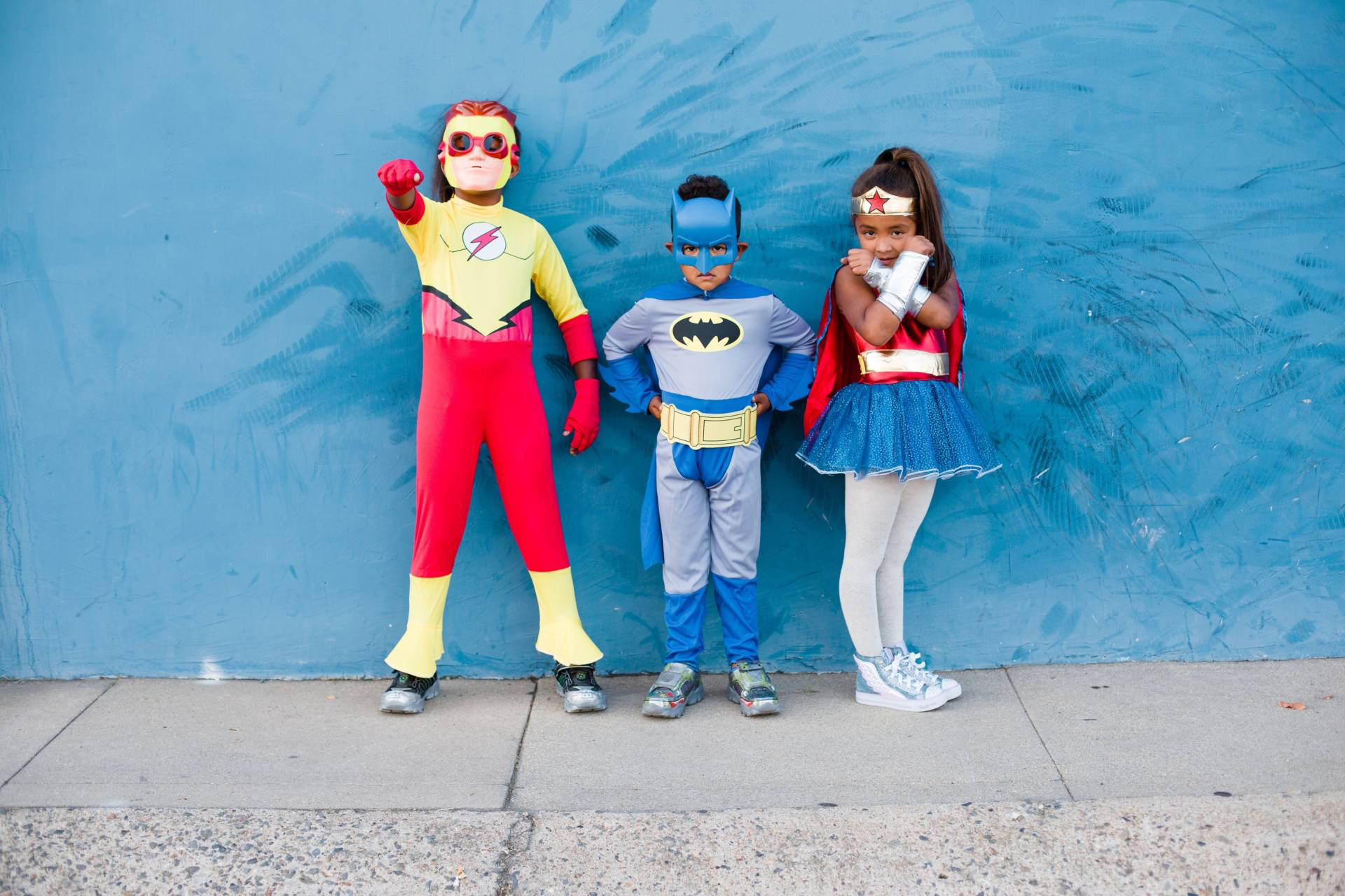 eadfdd924f9e I think the kids have been superheroes every year for Halloween! This year  we have flash Batman and wonder woman and boy are they taking on character!