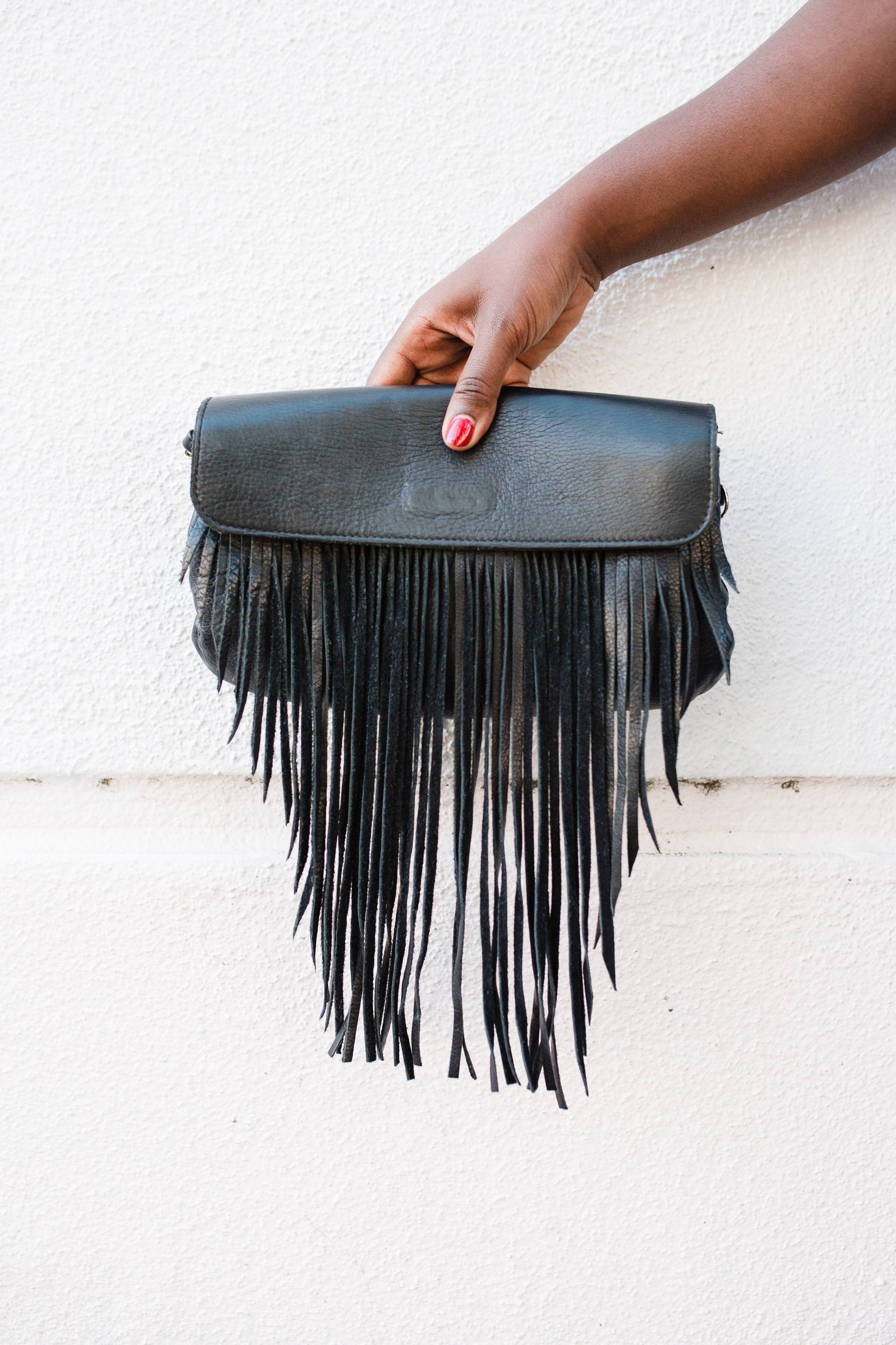 overalls-fashion- fringe bag