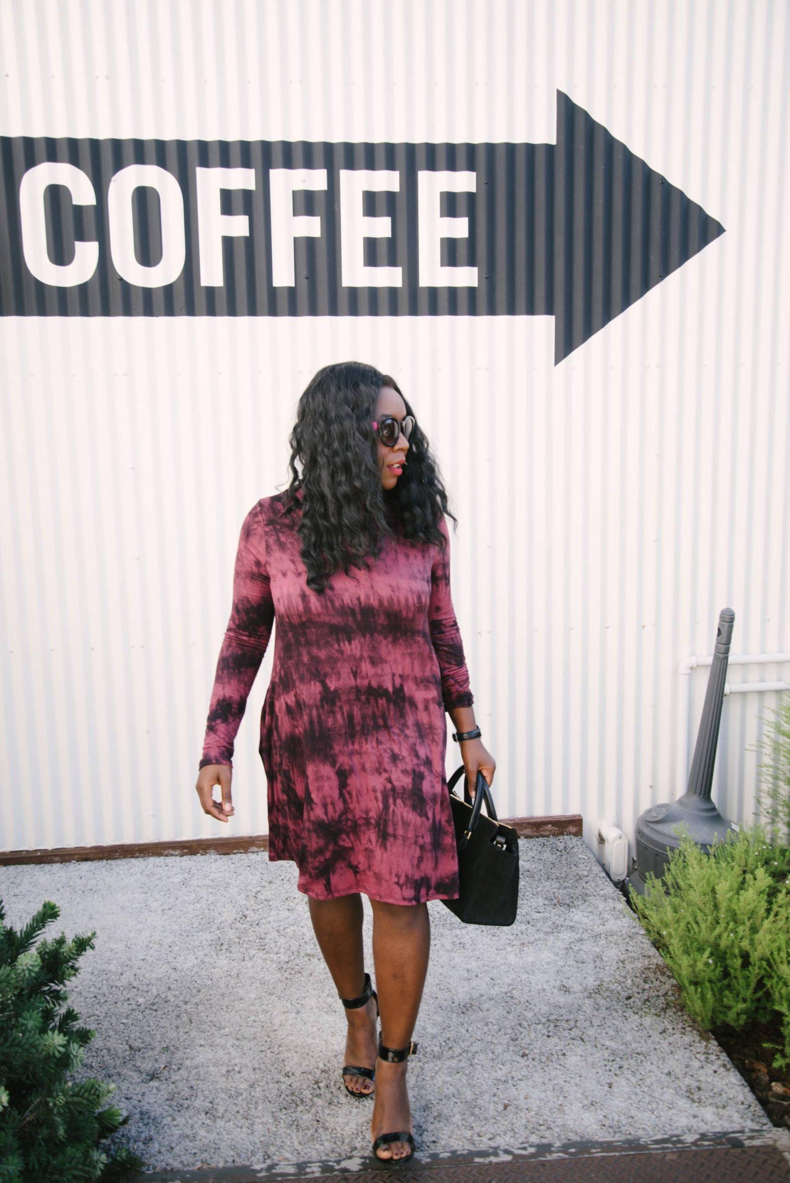 Tie Dye Choker Dress + Coffee Date Vol. 1