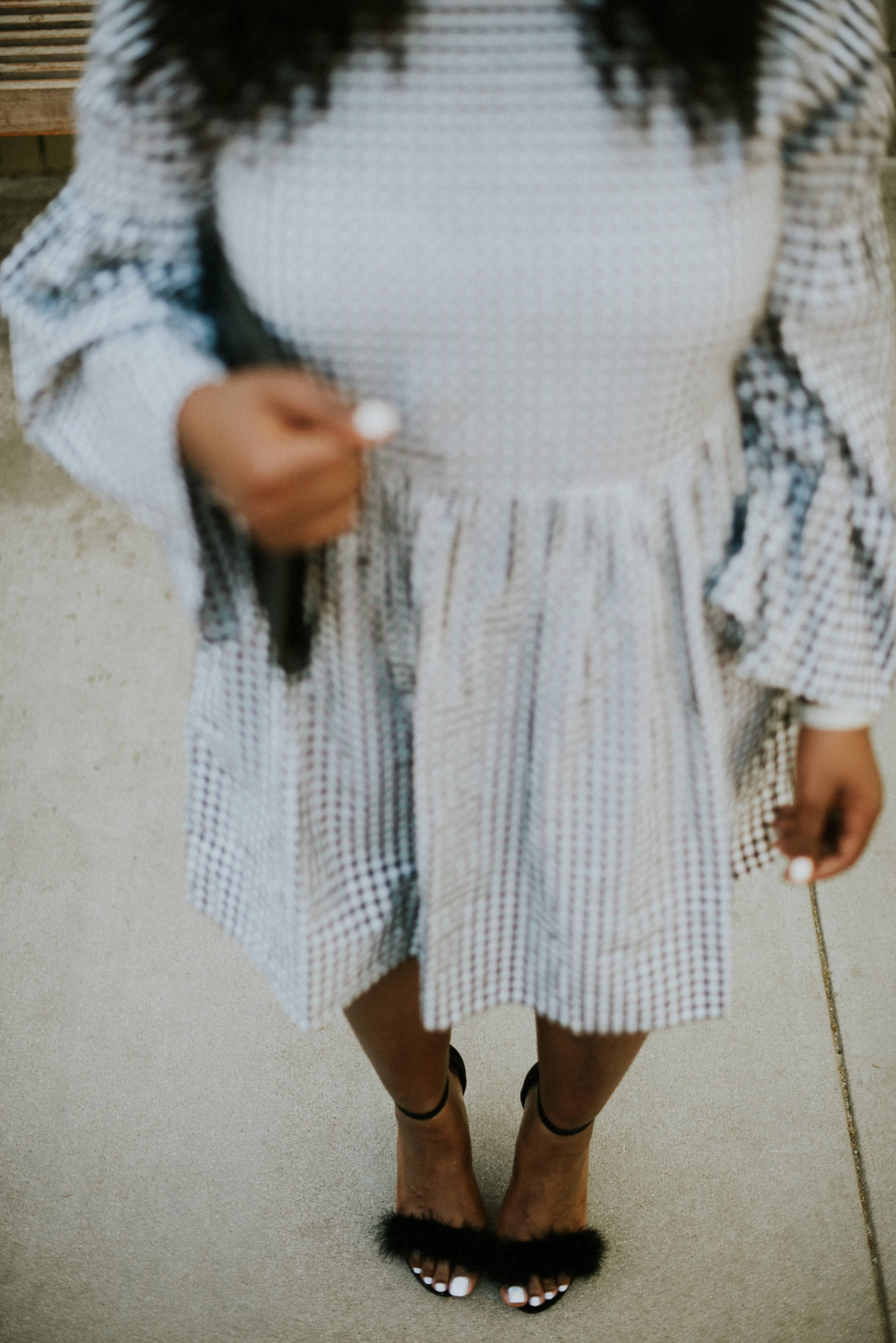 gingham-dresses- shoe shot
