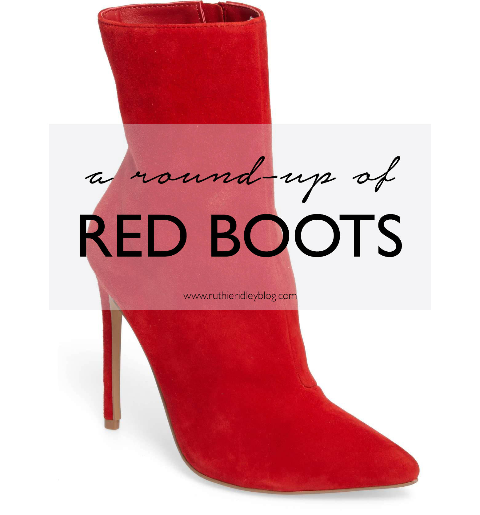 Trend Alert: Red Boots! Pairing the red hot trend with a silk dress and white bag!
