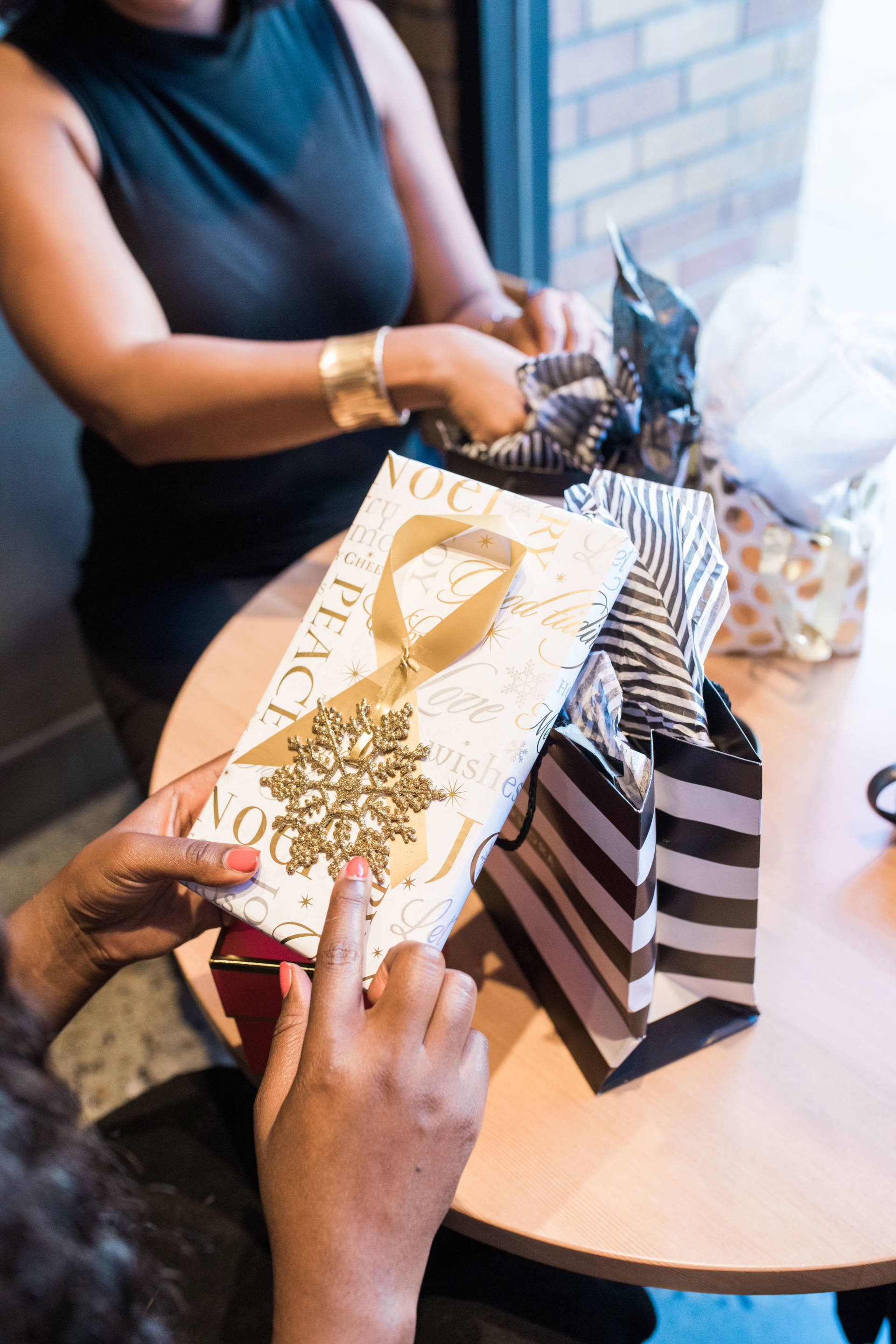 Coffee, gifts and friendship! It doesn't get better than that! I was so excited for our first annual gift exchange with my girls! We had a blast!