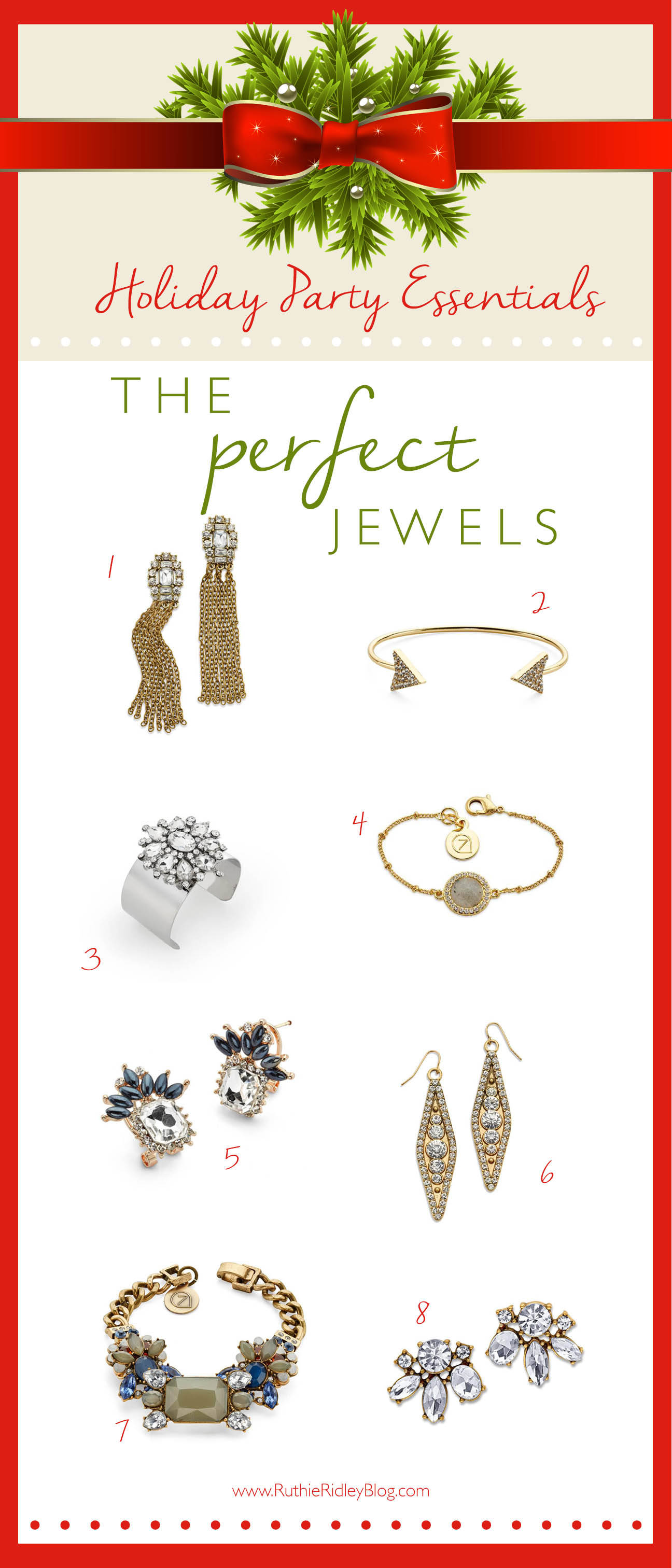 2 perfect ways to accessorize your Holiday look with elegance and style, featuring 7 Charming Sisters. Beautiful Jewels for an affordable price!