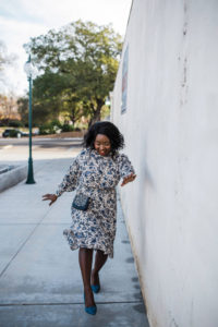 Ruthie Ridley Blog- Zara Blue Print Dress